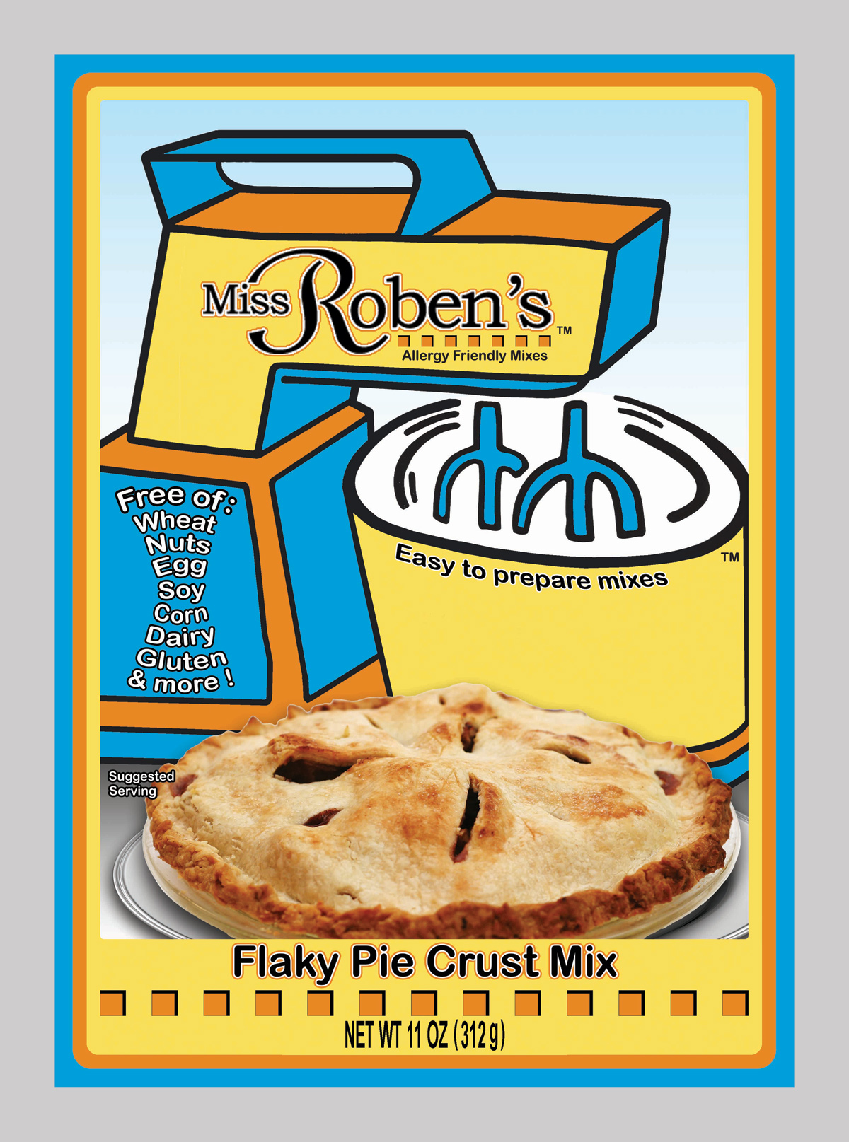 Flaky Pie Crust Mix | Miss Roben's Baking Mixes